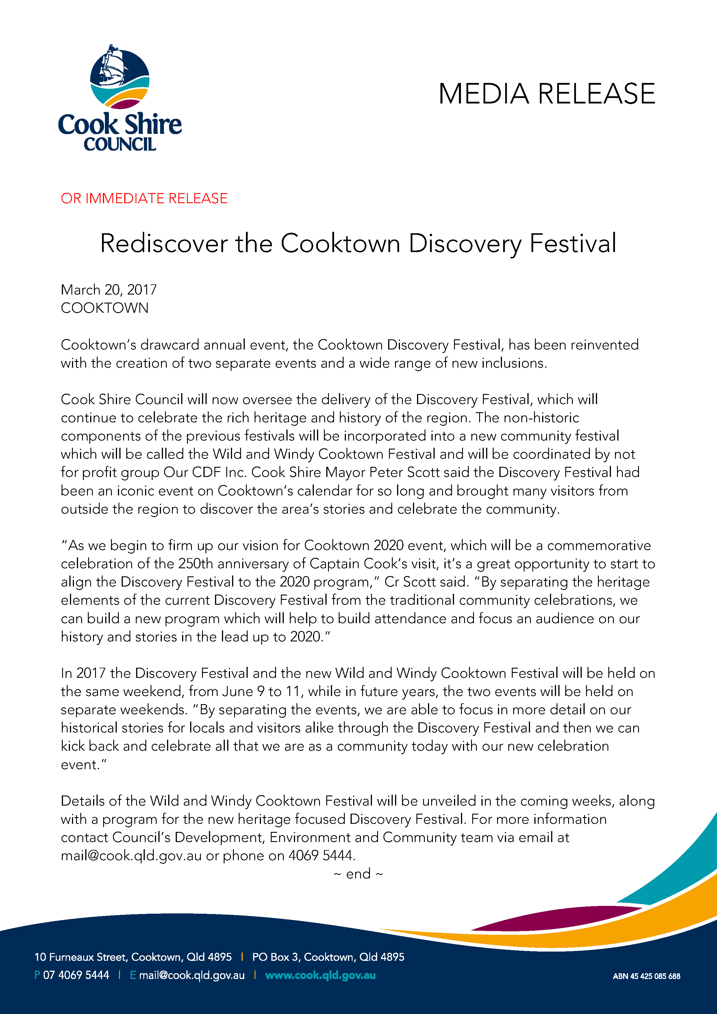 Rediscover the Cooktown Discovery Festival