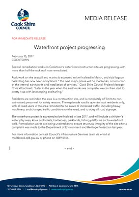 Waterfront project progressing
