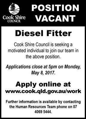 Cape York News April 19 2017 position vacant diesel fitter.jpg