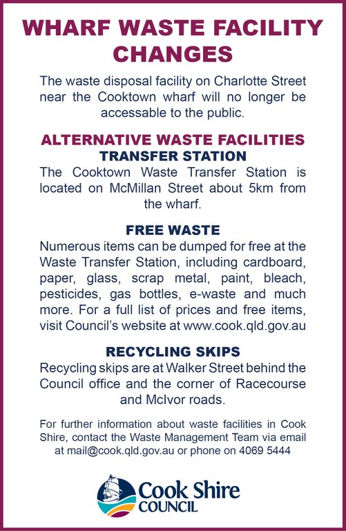 Cape York News June 14 and 21 2017 Cooktown wharf amenities waste change.jpg