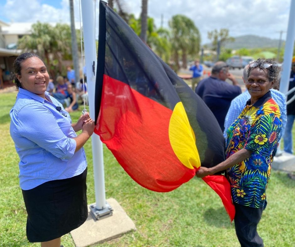 Sha-Lane Gibson and her Grandmother, Traditional Owner Erica Deeral