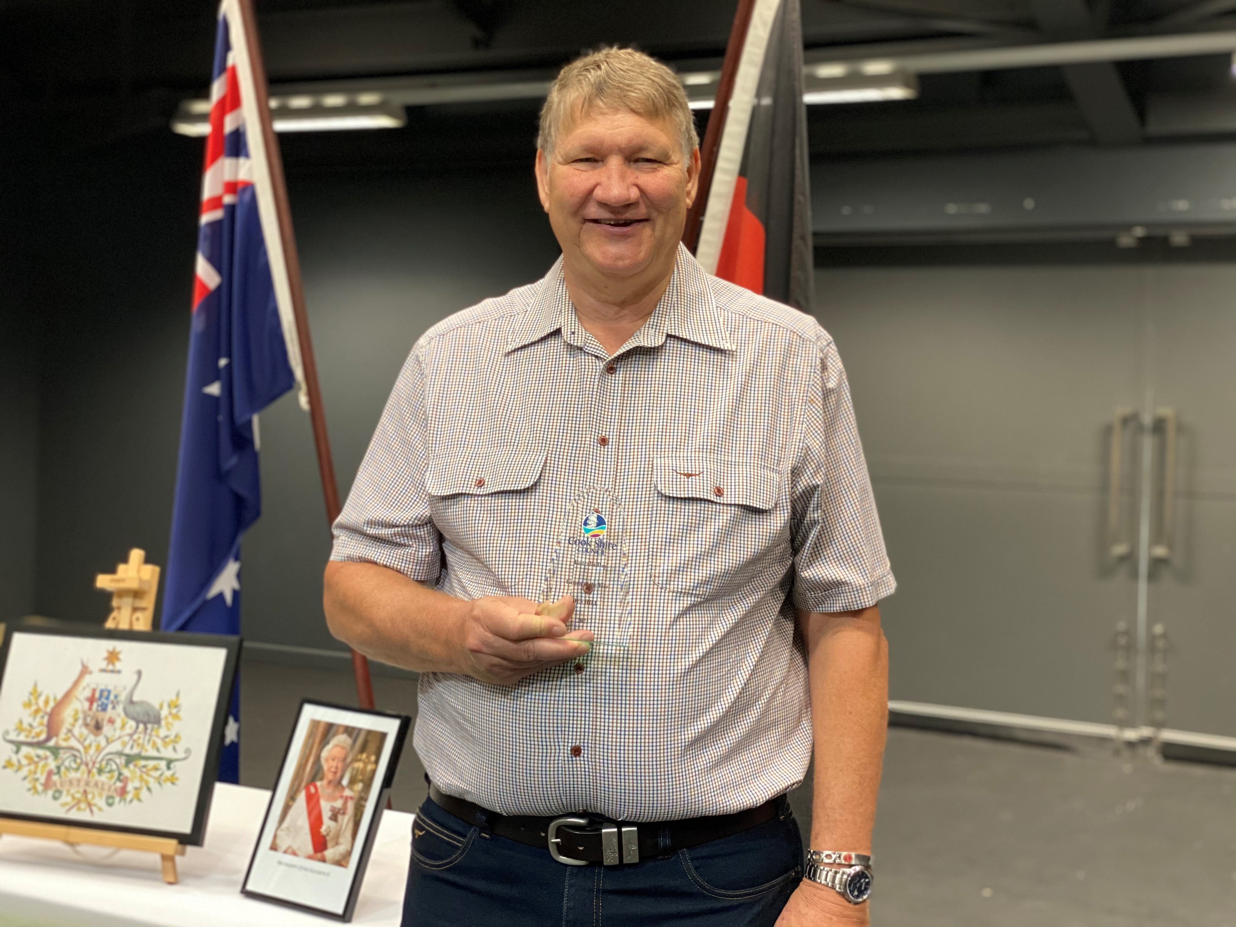 Cook Shire Citizen of the Year Dr Des Hill