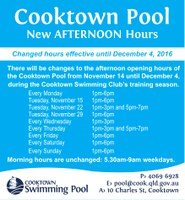 Cooktown Pool Swim Club Hours