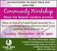 Nature's PowerHouse and Botanic Gardens Community Workshops