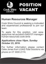 Position Vacant Human Resources Manager