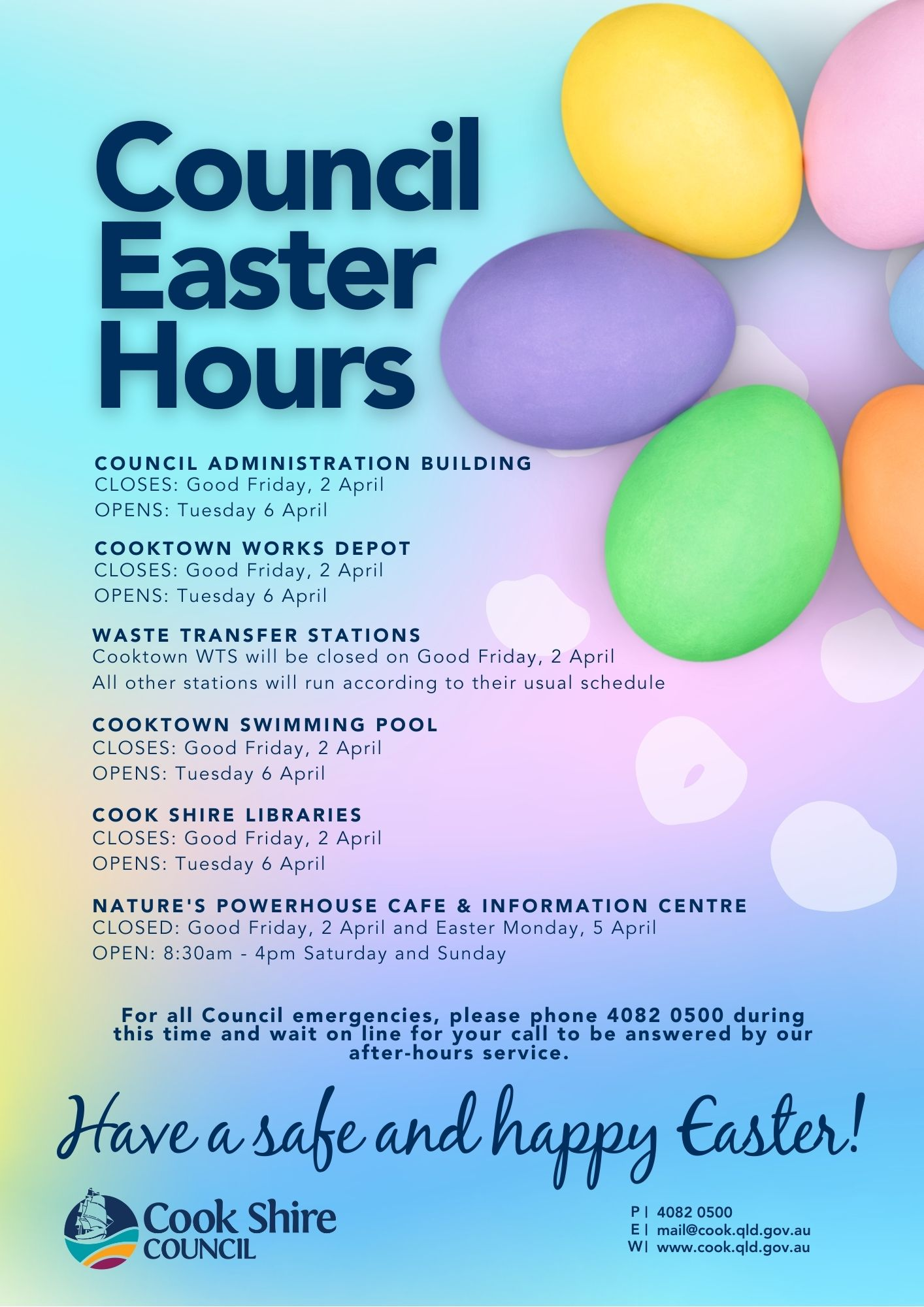 2021 Easter Closures