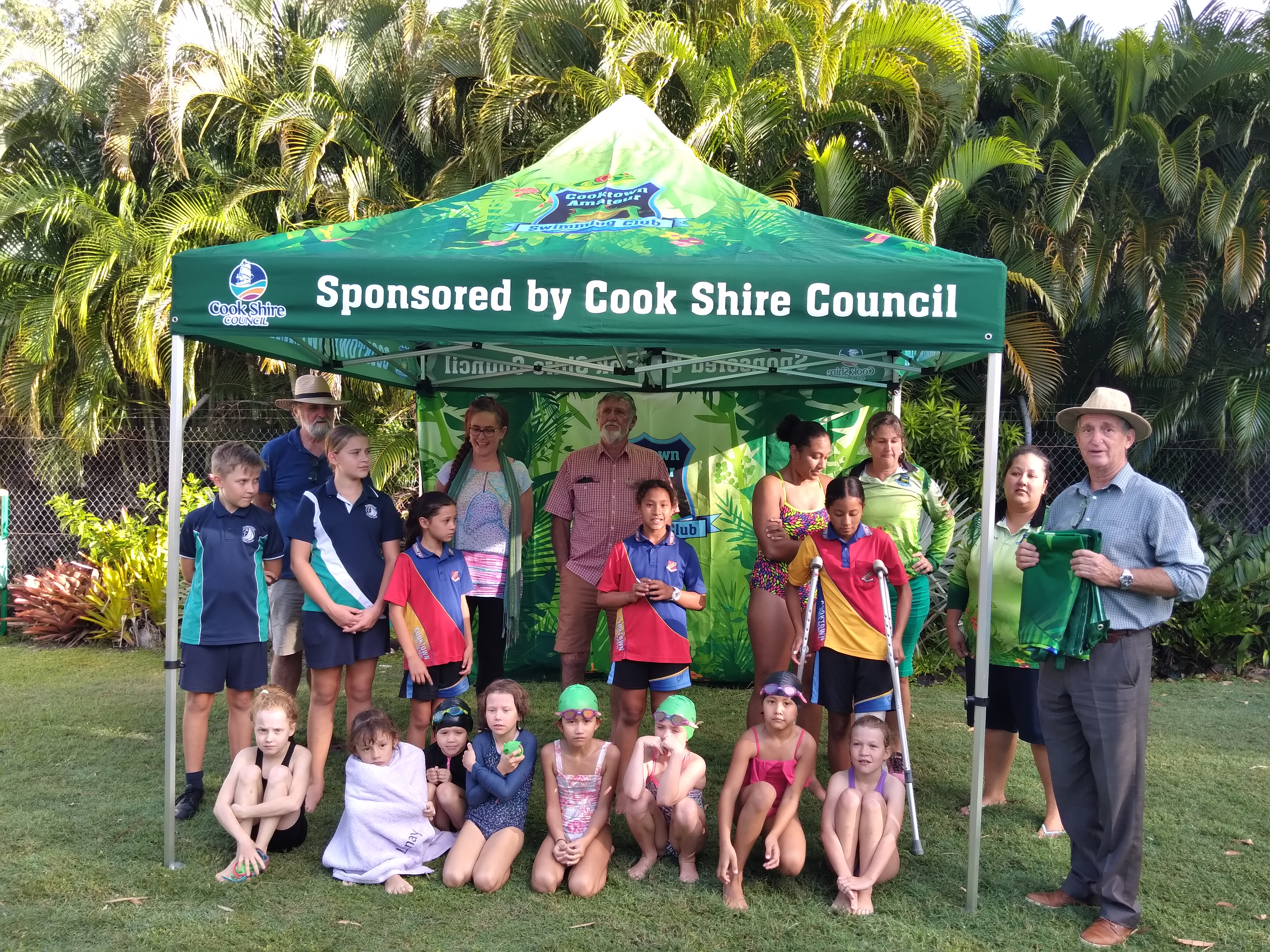 COOKTOWN SWIM CLUB RECEIVES COUNCIL SPONSORED MARQUEES
