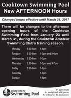 Cooktown Swimming Pool New Afternoon Hours