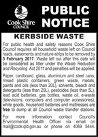 Kerbside Waste