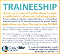 Position vacant Information Technology Support Traineeship