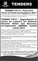 Tenders T0117 and T0217