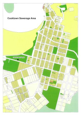 Cooktown Wastewater Serviced Area Map