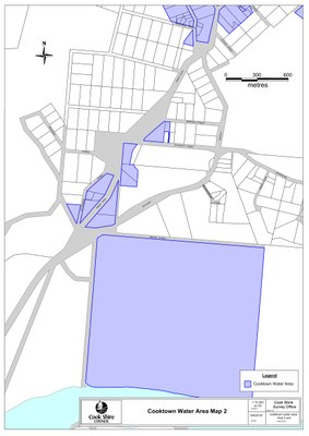 Cooktown water area map 2