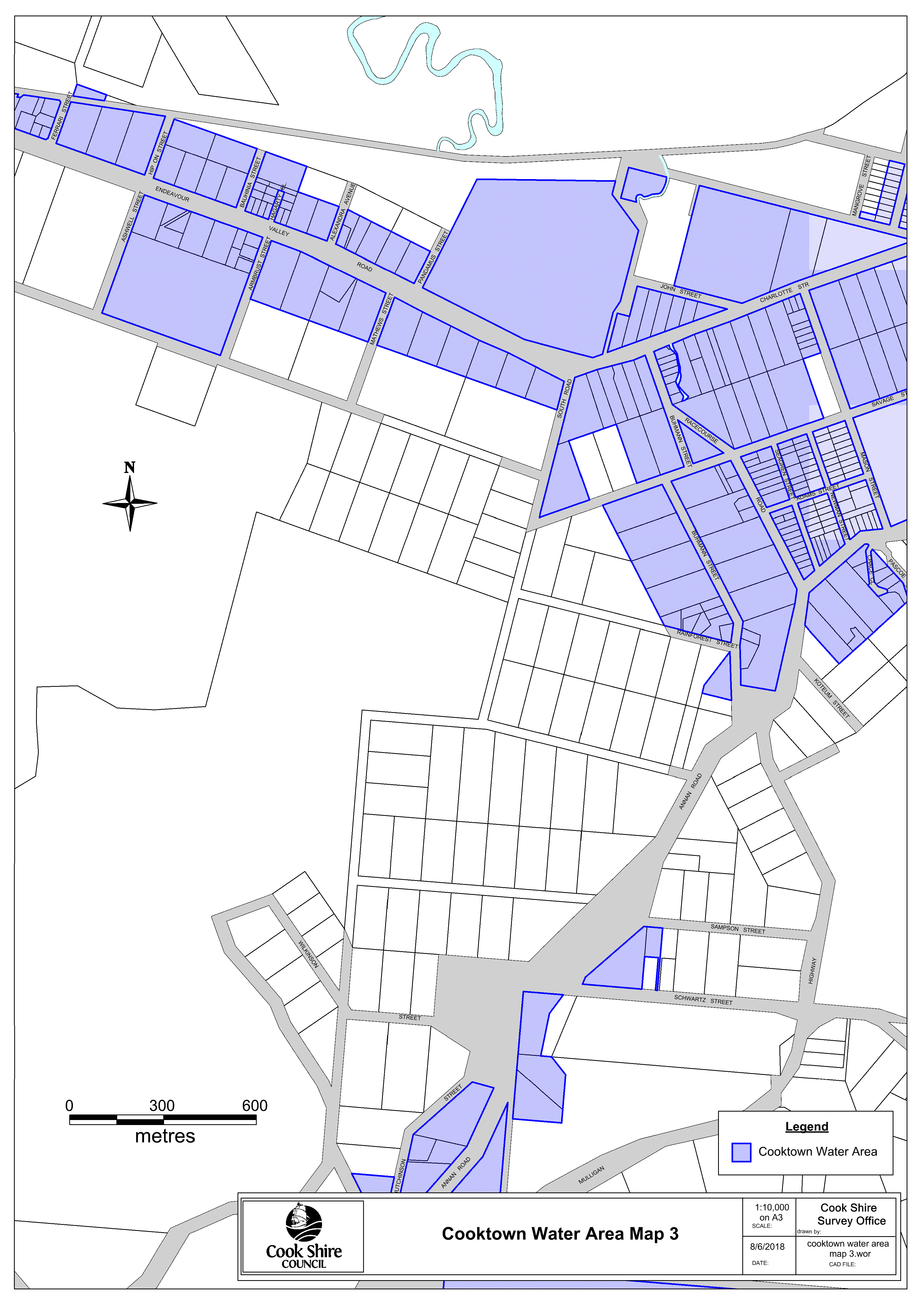 Cooktown water area map 3
