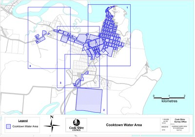 Cooktown water area overview