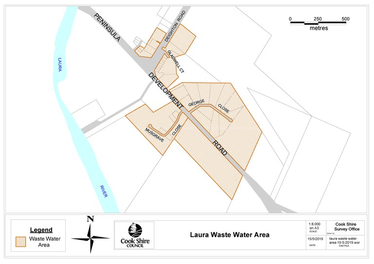 Laura Wastewater Serviced Area Map